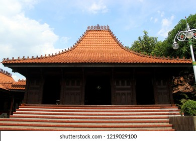 Jepara Joglo. Traditional house from Jepara, Central Java, Indonesia.
