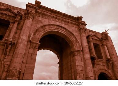 Jerash city ruins. Jordan