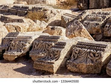 Jerash Ruins, detailed view, Jerash Governorate, Jordan
