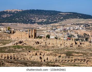 Jerash Ruins, elevated view, Jerash Governorate, Jordan