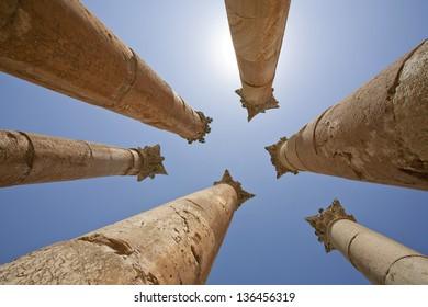 The Jerash Temple of Artemis in Jordan