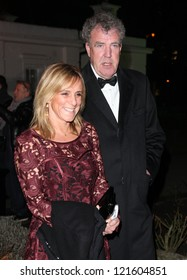 Jeremy Clarkson and wife arriving for The Sun Military Awards, at The Imperial War Museum, London. 06/12/2012 Picture by: Alexandra Glen