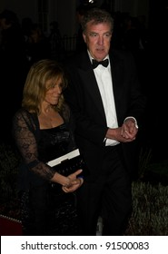 Jeremy Clarkson and wife arriving for The Sun Military Awards 2011 at the Imperial war Museum, London. 19/12/2011 Picture by: Simon Burchell / Featureflash