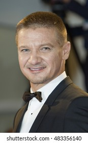 Jeremy Renner attending the premiere of 'Arrival' during the 73rd Venice Film Festival at Sala Grande in Venice, Italy on 01 September 2016