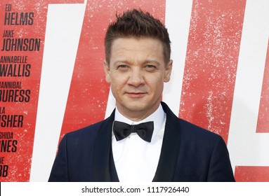 Jeremy Renner at the Los Angeles premiere of 'Tag' held at the Regency Village Theatre in Westwood, USA on June 7, 2018.