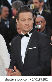 """Jeremy Renner at the premiere of his movie """"The Immigrant"""" at the 66th Festival de Cannes. May 23, 2013  Cannes, France"""
