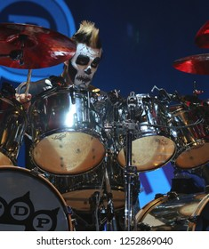 Jeremy Spencer drummer for Five Finger Death Punch at Tribute Communications Oshawa , Ontario , Canada , Sept. 23 2016