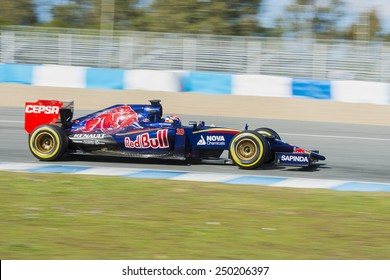 Jerez de la Frontera, Andalusia, Spain, 04 February, 2015: Max Verstappen, pilot of the team Toro Rosso in test Formula 1 in Circuito de Jerez.