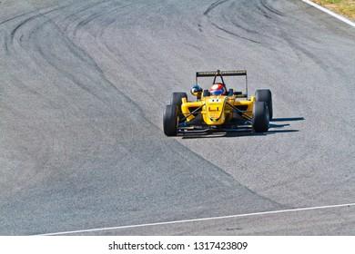 JEREZ DE LA FRONTERA, SPAIN - OCT 16: Matteo Torta of Corbetta Competizioni  races on European F3 championship on October 16 , 2011, in Jerez de la Frontera , Spain