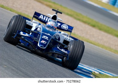 JEREZ DE LA FRONTERA, SPAIN -  OCT 11: Narain Karthikeyan of Williams F1 races in training session on October 11, 2006 in Jerez de la Frontera, Spain