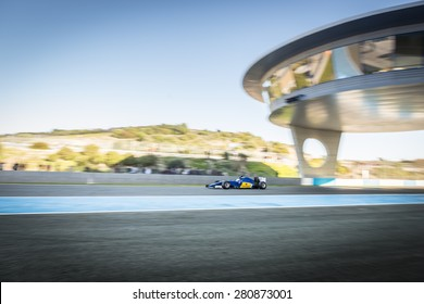 JEREZ, SPAIN - FEBRUARY 2ND: Marcus Ericsson testing his new Sauber C34 F1 racing car on the first Test at the Jerez Circuit in Jerez, Andalucia, Spain on Feb. 2, 2015.