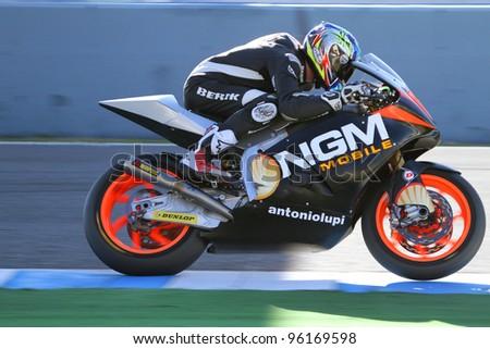 JEREZ SPAIN FEBRUARY 16 San Marino Rider Stock Photo (Edit ...