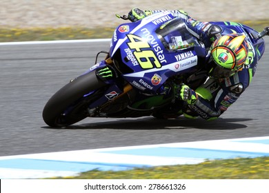 JEREZ - SPAIN, MAY 1: Italian Yamaha rider Valentino Rossi at 2015 Bwin MotoGP of Spain at Jerez circuit on May 1, 2015