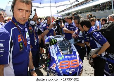 JEREZ - SPAIN, MAY 5: Spanish Yamaha rider Jorge Lorenzo on the grid at 2014 Bwin MotoGP of Spain at Jerez circuit on May 5 , 2014