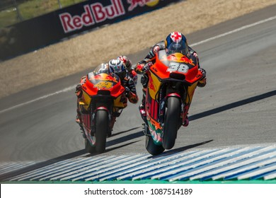 JEREZ - SPAIN, MAY 6: British Ktm rider Bradley Smith at 2018 Red Bull MotoGP of Spain at Jerez circuit on May 6, 2018