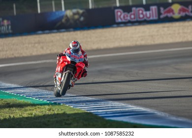JEREZ - SPAIN, MAY 6: Spanish Ducati rider Jorge Lorenzo at 2018 Red Bull MotoGP of Spain at Jerez circuit on May 6, 2018