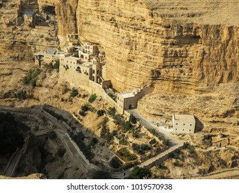 Jericho, Israel -  St. George Monastery, near Jericho and the Dead Sea in the Judean desert