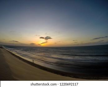 Jericoacoara, Ceará, Brazil. October 2018. Sunset dunes at Jericoacoara beach.