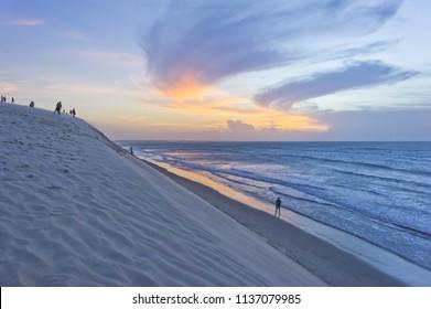 Jericoacoara, Brazil, sunset beach view