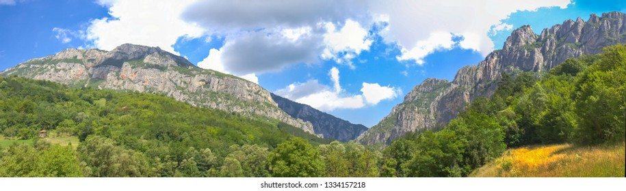 Jerma River canyon in Serbia near the village of Vlasi - Shutterstock ID 1334157218