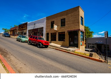 Jerome, Arizona USA - April 27, 2017: Cityscape view of the downtown area of this popular small mountain town located in Yavapai County.