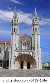 Jeronimos (Hieronymites) Monastery in Lisbon  - the most grandiose monument to late Manueline Portuguese style architecture in Lisbon, Portugal