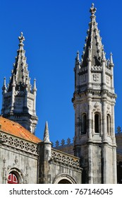 Jeronimos Monastery and Church of Santa Maria of Belem in Lisbon, Portugal
