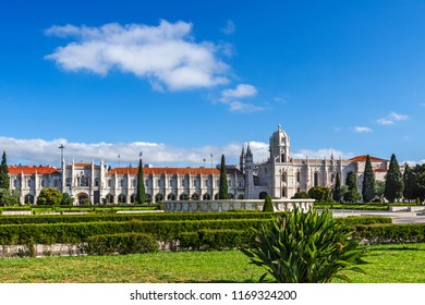 Jeronimos Monastery or Hieronymites Monastery is located in Belrm in Lisbon, Portugal. travel destination
