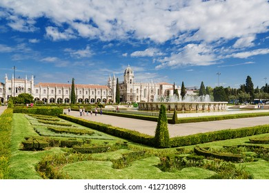 Jeronimos Monastery in Lisbon Jeronimos - the most grandiose monument to late-Manueline Portuguese style architecture.