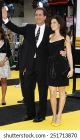 """Jerry Seinfeld and Jessica Seinfeld attend the Los Angeles Premiere of """"Bee Movie"""" held at the Mann Village Theater in Westwood, California, United States on October 28, 2007."""