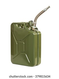 Jerrycan with flexi pipe spout. Fuel can.