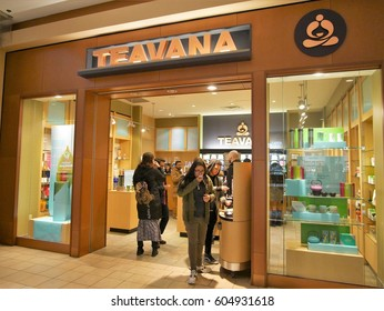 Jersey City, New Jersey - March 18 2017, Teavana store front