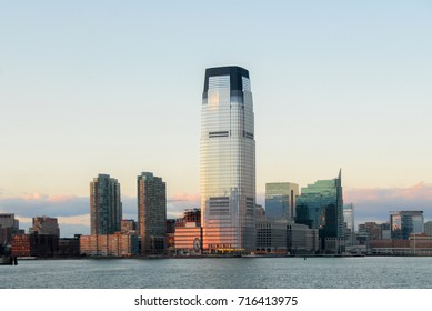 Jersey City, NJ - January 1, 2008: Goldman Sachs Tower in Jersey City in New Jersey, USA