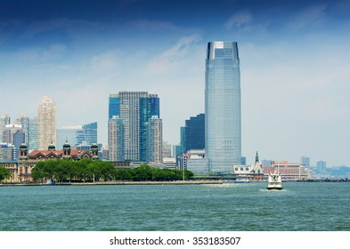 Jersey City skyline as seen from New York.