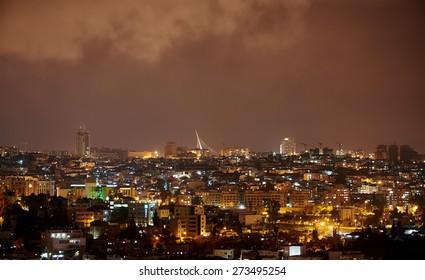 "Jerusalem Bridge ""King David's harp"" at Night"