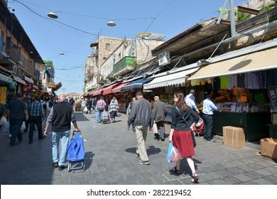 JERUSALEM, ISR - MAR 242015:Mahane Yehuda Market in Jerusalem, Israel