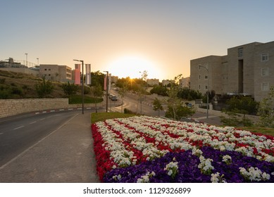 Jerusalem, Israel - 11 June, 2018: Entrance Road leading to the United States Embassy