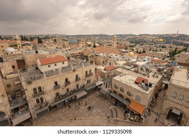 Jerusalem, Israel: 13 June, 2018: A view of the Old City from the Tower of David Museum
