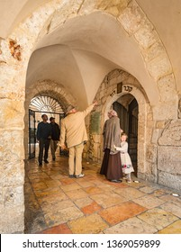 Jerusalem, Israel - 16 December, 2018: The entrance to the Tomb of King David on Mount Zion