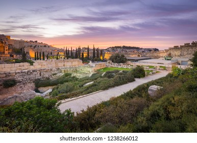 Jerusalem, Israel- 2016-10-16: The Davidson Center is located within the precincts of an Umayyad-period palace excavated in the area of the Jerusalem Archaeological Park.