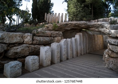 JERUSALEM, ISRAEL. 24 October 2018: Yad Vashem, Israel's official memorial to the Jewish victims of the Holocaust, established in 1953.