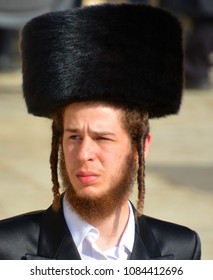 JERUSALEM ISRAEL 26 10 16: Portrait of Hasidism man is Jewish religious sect. It arose as a spiritual movement in contemporary Ukraine during the 18th Century and spread rapidly through Eastern Europe