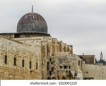 Jerusalem, Israel -  Al-Aqsa Mosque in Old City of Jerusalem, Israel