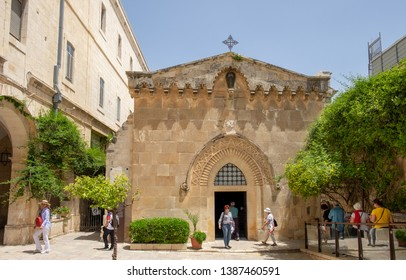 JERUSALEM , ISRAEL - APRIL  26, 2019: Church of the Flagellation, located in the Muslim Quarter of the Old City of Jerusalem, Israel