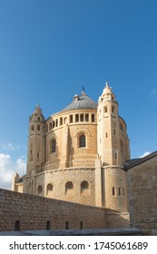 Jerusalem, Israel. Assumption Monastery in the old city of Jerusalem. Also known as St. Mary's Abbey on Mount Zion