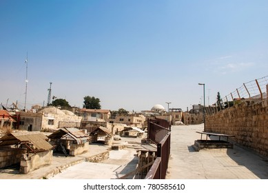 JERUSALEM, ISRAEL - AUGUST 03, 2010: Horizontal picture from the rooftop of the traditional houses at Old City in Jerusalem, Israel
