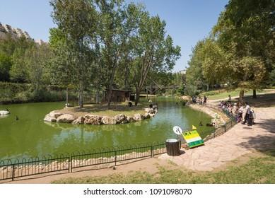 Jerusalem, Israel - August 26, 2016: The Jerusalem Biblical Zoo