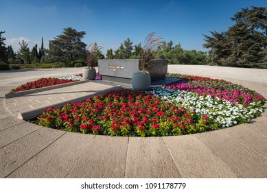 Jerusalem , Israel - August 7, 2016: The tomb of Theodore Herzl, founder of modern Zionism