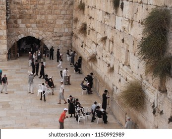 JERUSALEM,  ISRAEL - CIRCA AUGUST 2009  :  Scenery of WAILING WALL.