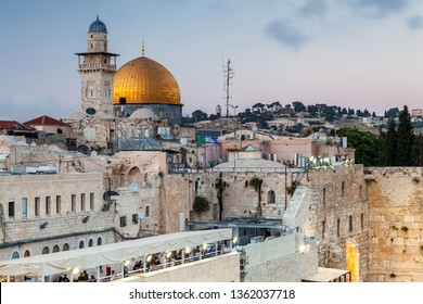 JERUSALEM, ISRAEL - CIRCA MAY 2018: View of the Dome of the Rock in Jerusalem, Israel circa May 2018 in Jerusalem.